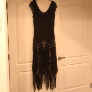 Beaded evening gown - brown size 12